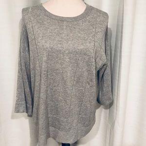Lafayette 148 model cotton gray sweater size L